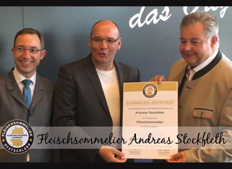 Sommelier Zertifikat für Fleischsommlier Andreas Stockfleth
