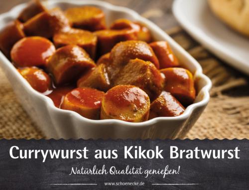 Leckere Currywurst aus Kikok Bratwurst