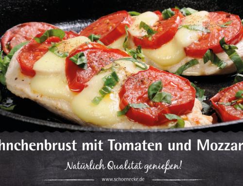 Hähnchenbrust mit Tomate Mozzarella