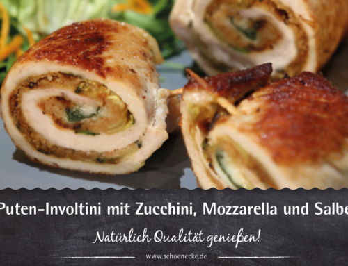 Puten-Involtini mit Zucchini, Mozzarella und Salbei