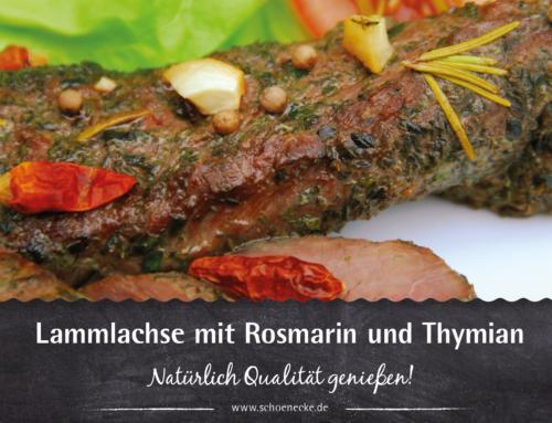 Lammlachse mit Rosmarin und Thymian