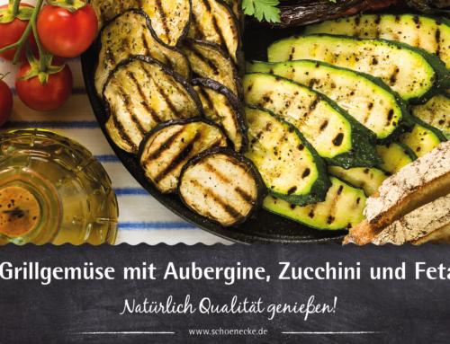 Grillgemüse mit Aubergine, Zucchini und Feta
