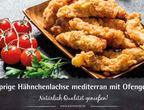Knusprige Hähnchenlachse mediterran mit Ofengemüse