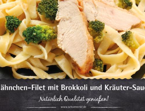 Hähnchen-Filet mit Brokkoli und Kräuter-Sauce