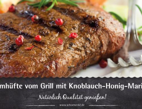 Lammhüfte vom Grill mit Knoblauch-Honig-Marinade