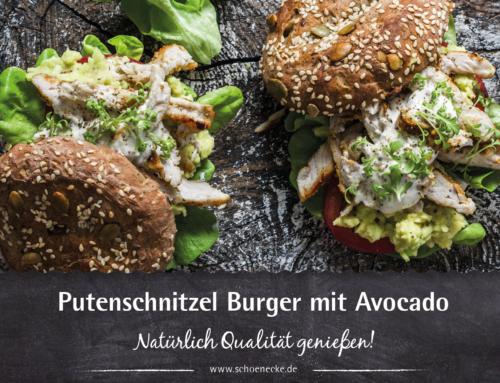 Putenschnitzel Burger mit Avocado