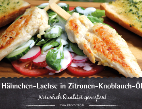 Hähnchen-Lachse in Zitronen-Knoblauch-Öl